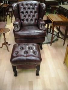 Winsor Wing Chair and Stool